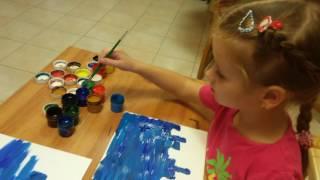 Урок ИЗО для детей 5-6 лет. Школа Дизайна Эскалье.