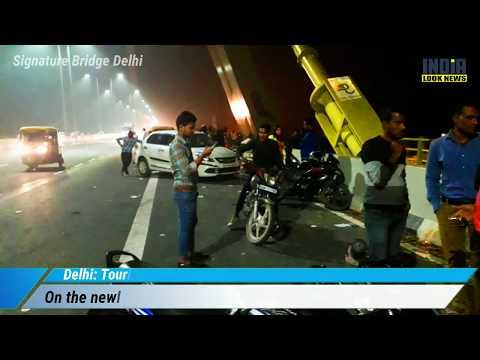 East Delhi Tourists risk lives to click pictures at Signature Bridge | tourist spot