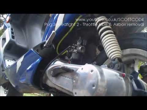 how to remove throttle cable airbox from 50cc peugeot. Black Bedroom Furniture Sets. Home Design Ideas