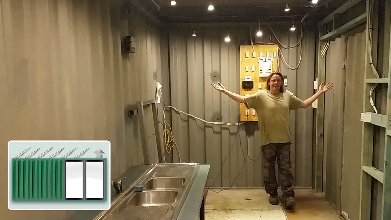 Shipping Container House Kitchen Preparation Amp Lighting