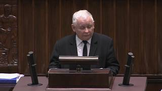 Wzruszające przemówienie Jarosława Kaczyńskiego o zmarłej Jolancie Szczypińskiej