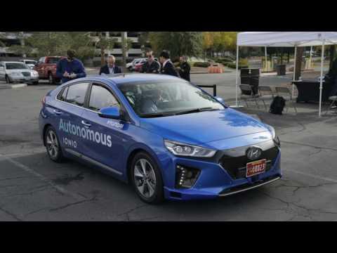 Look This, than a taxi We ride in Hyundai's Autonomous Ioniq Electric