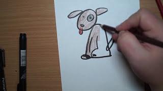 Как научиться рисовать собаку. Год собаки 2018. Символ года.