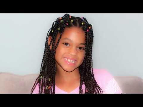 box braids mixed kid's hair