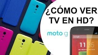 Motorola Moto G -  ¿Cómo ver la TV sin conexión a Internet? Unboxing + Review HD