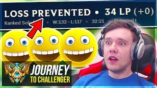 WAIT.. WHY AM I NOT LOSING LP??????????? - Journey To Challenger   League of Legends