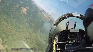 Полёт на истребителе от первого лица   HD (Remix) Музыка Сергея Грищука