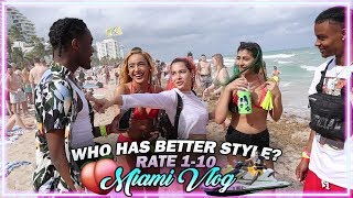 WHO DRESSES BETTER? Public Interview Rate Me 1-10 (MIAMI SPRING BREAK EDITION)