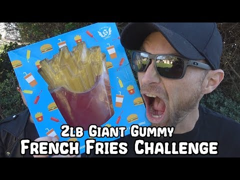 2lb Giant Gummy French Fries Challenge
