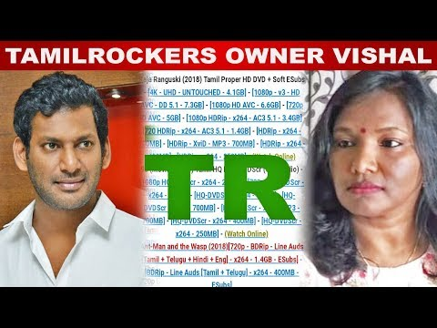 Vishal is the owner of Tamilrockers - Actress shocking statement thumbnail