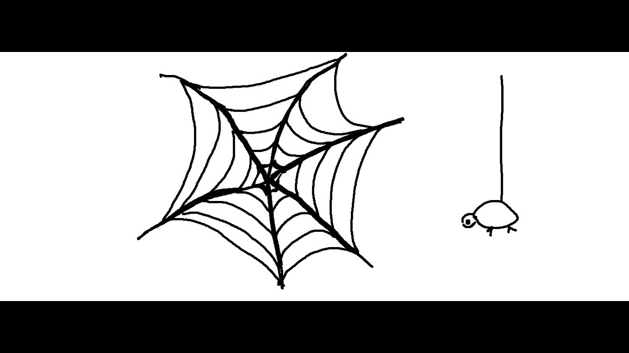 easy kids drawing lessonshow to draw a simple spider web - Simple Kid Drawings