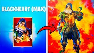 "How To UNLOCK MAX! ""BlackHeart Skin Stage 4"" - Fortnite BlackHeart Skin"