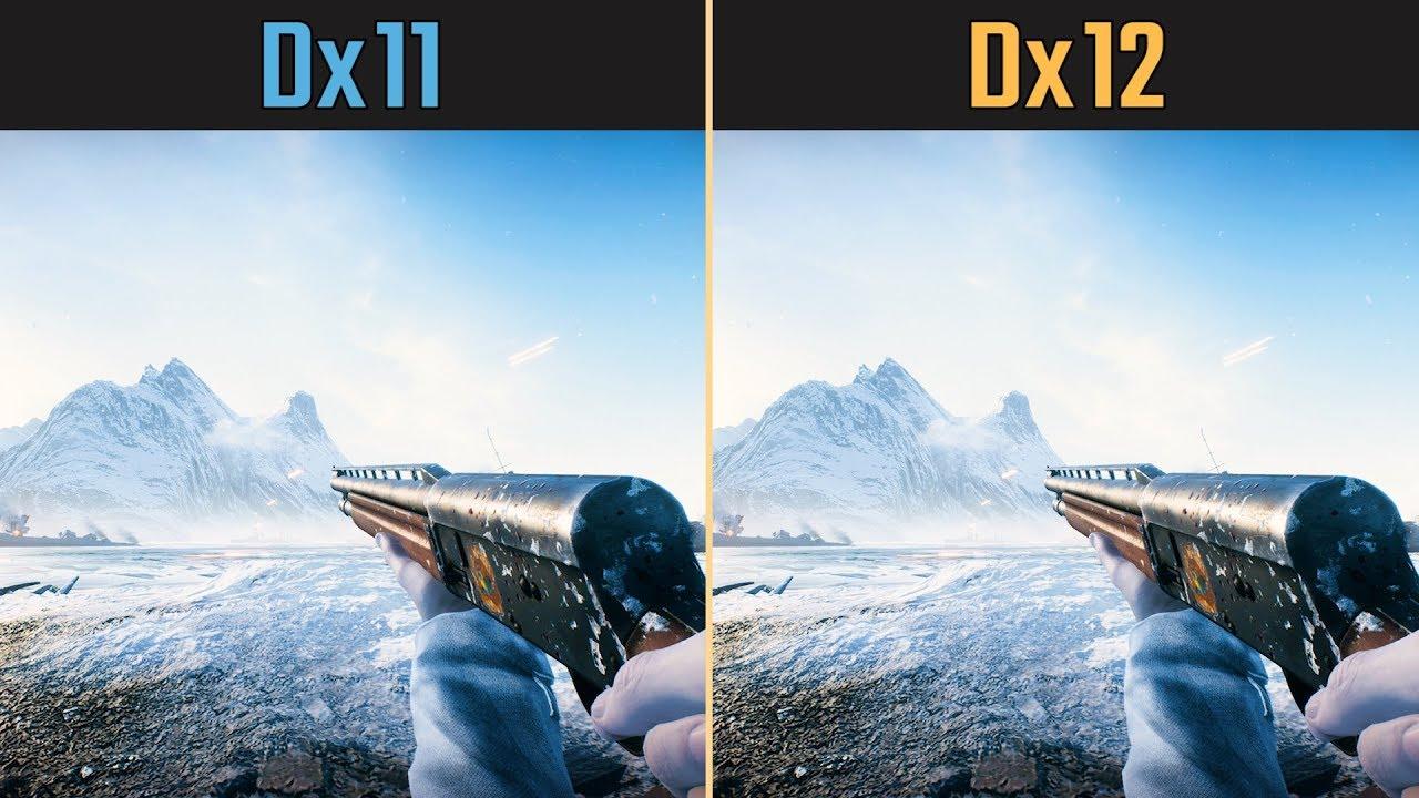Battlefield V Dx12 vs  Dx11 (Competitive Graphics Settings)