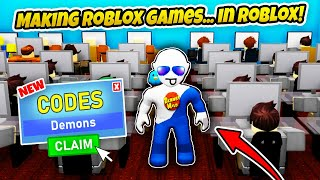 MAKING MY OWN GAME IN CODER SIMULATOR - Coder Simulator Codes (That's a Lot of Codes) - Roblox
