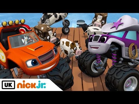 Blaze and the Monster Machines | Cattle Drive | Nick Jr. UK