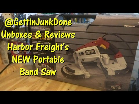 Harbor Freight's NEW Portable Band Saw Kit @GettinJunkDone