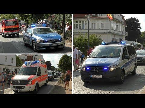 [wail/yelp]-2x-fustw-polizei-mv-und-rtw-drk-kv-bad-doberan-rw-kühlungsborn-begleiten-festumzug