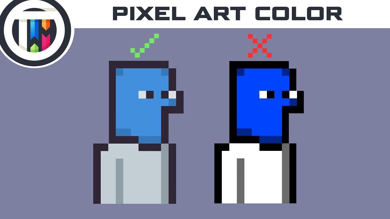How To Color Pixel Art Youtube