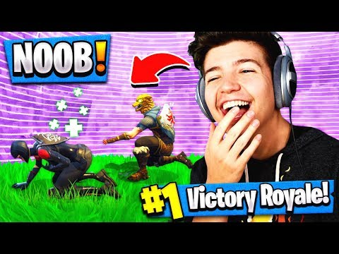 CARRYING THE WORLDS BIGGEST NOOB in Fortnite Battle Royale