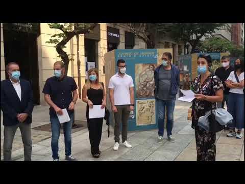 """A rúa do Paseo de Ourense acolle a mostra """"Xenio, gloria e oficio"""""""