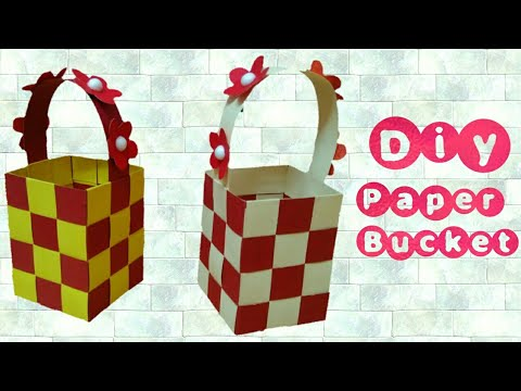 Diy: How to make origami paper bucket/ basket easily: full Tutorial gift art #origami