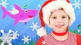 Baby Shark and Monkey Banana Song for kids   Nicole Nursery Rhymes & Kids Songs