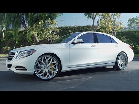 2016 White Mercedes Benz S550 On 24 Lf 750 Lexani Wheels