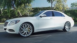 2016 White Mercedes-Benz S550 on 24'' LF-750 Lexani Wheels