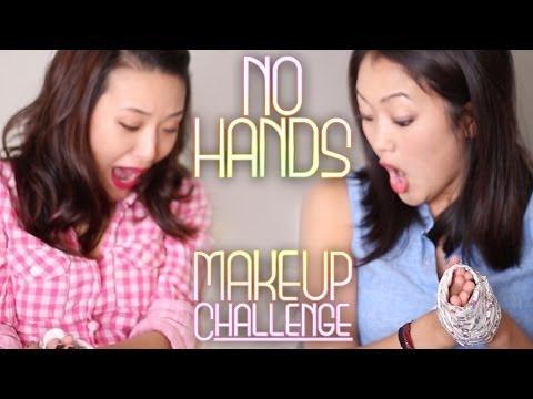 NO HANDS Makeup Challenge!