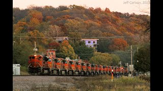 Large C44-9W BNSF Power Move