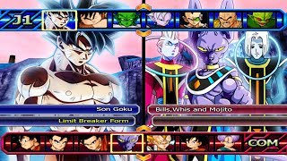 Goku Limit Breaker(UPDATED) VS Bills,Mojito and Whis | Dragon Ball Z Budokai Tenkaichi 3