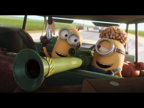 Minions 2015 robbing the bank scene 720p BluRay