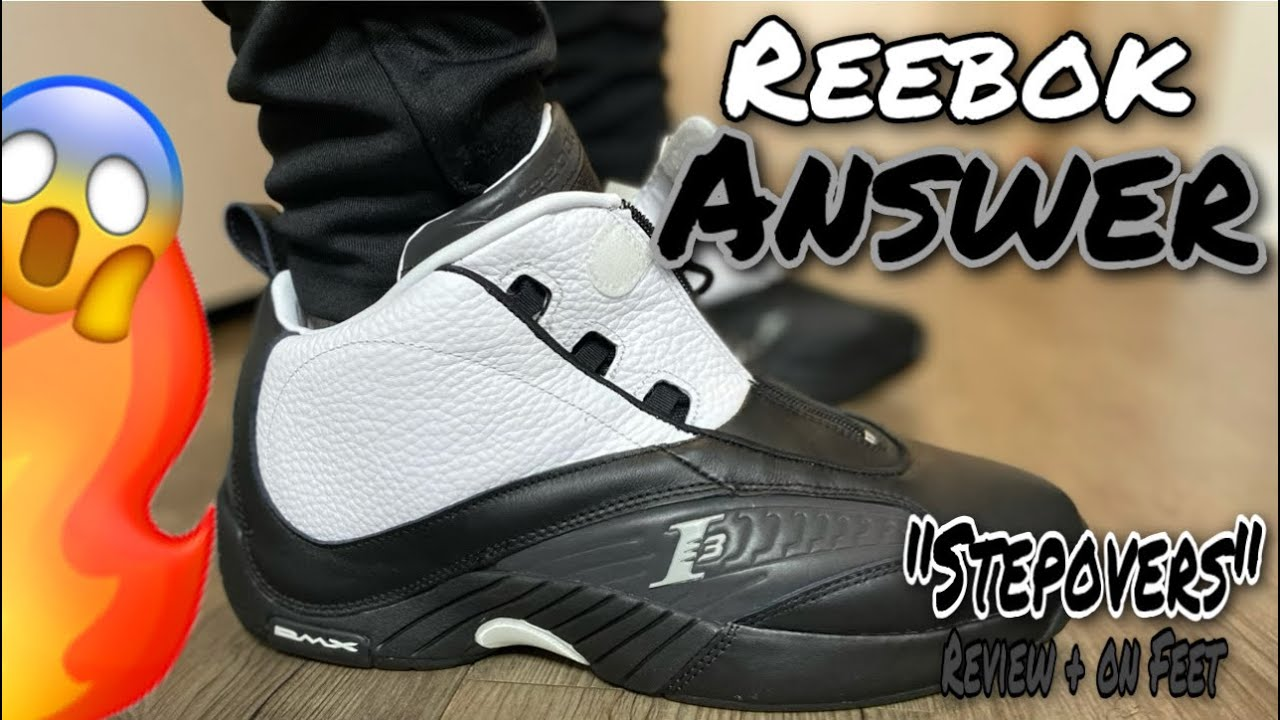 """REEBOK ANSWER 4 """"STEPOVER"""" 2021 REVIEW AND ON FEET! ICONIC RETRO 🔥"""