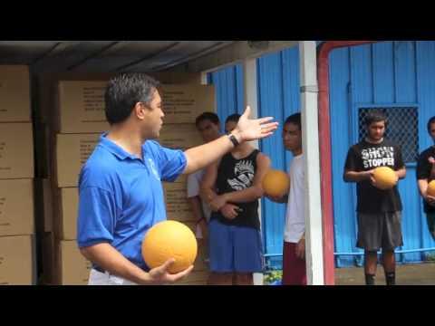 Indestructible One World Futbols donated in Am. Samoa