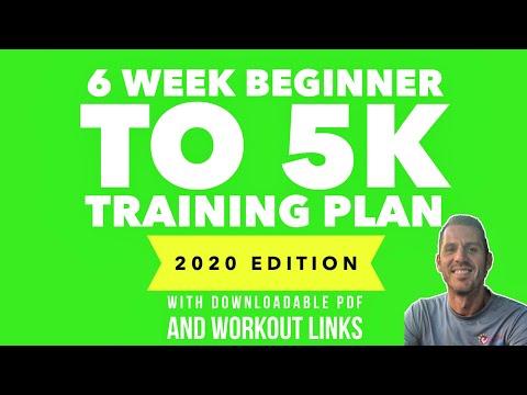 6 Week 'Beginner to 5k' Training Plan (2020 update downloadable pdf)