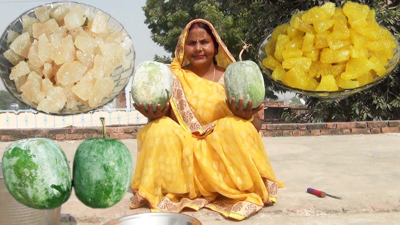 Download आगरे का पेठा बनाने की विधि   Agra Ka Petha Recipe   Petha Sweet Recipe in hindi