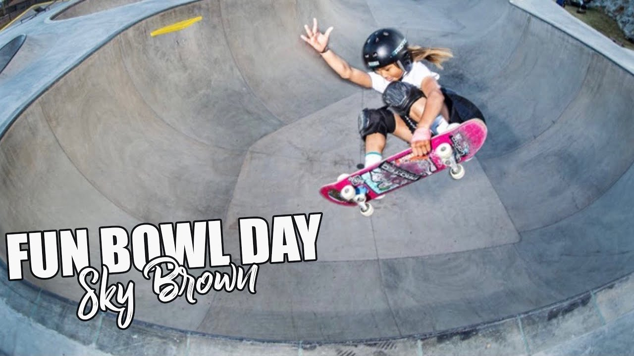 3rd in the World   Sky Brown 12 yr old skater   Fun skate day