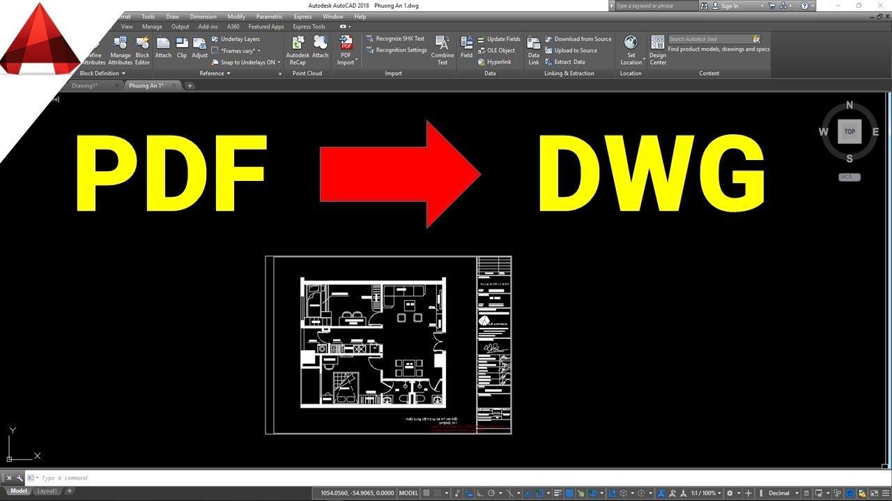 Chuyển Đổi File PDF thành DWG online free ✅( Convert file PDF to DWG in autocad) / Thủ thuật Autocad
