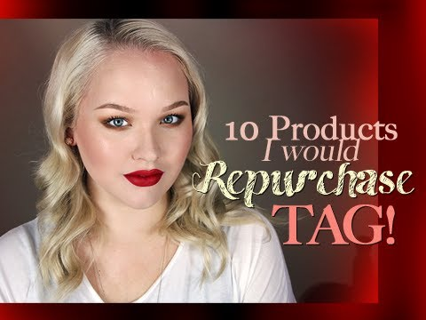 Ten Products I Would Repurchase Tag! - Beautober!