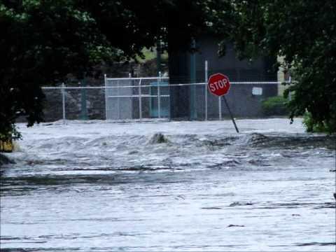 Pompton Lakes Dam Flood 8/28/2011 Hurricane Irene