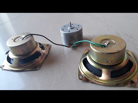 Free Energy Generator in two Speaker Magnet