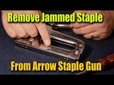How to Remove Jammed Staples From Arrow Staple Gun - CRF GuruBrew