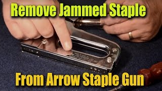 How to Remove Jammed Staples From Arrow Staple Gun - CRF GuruBrew