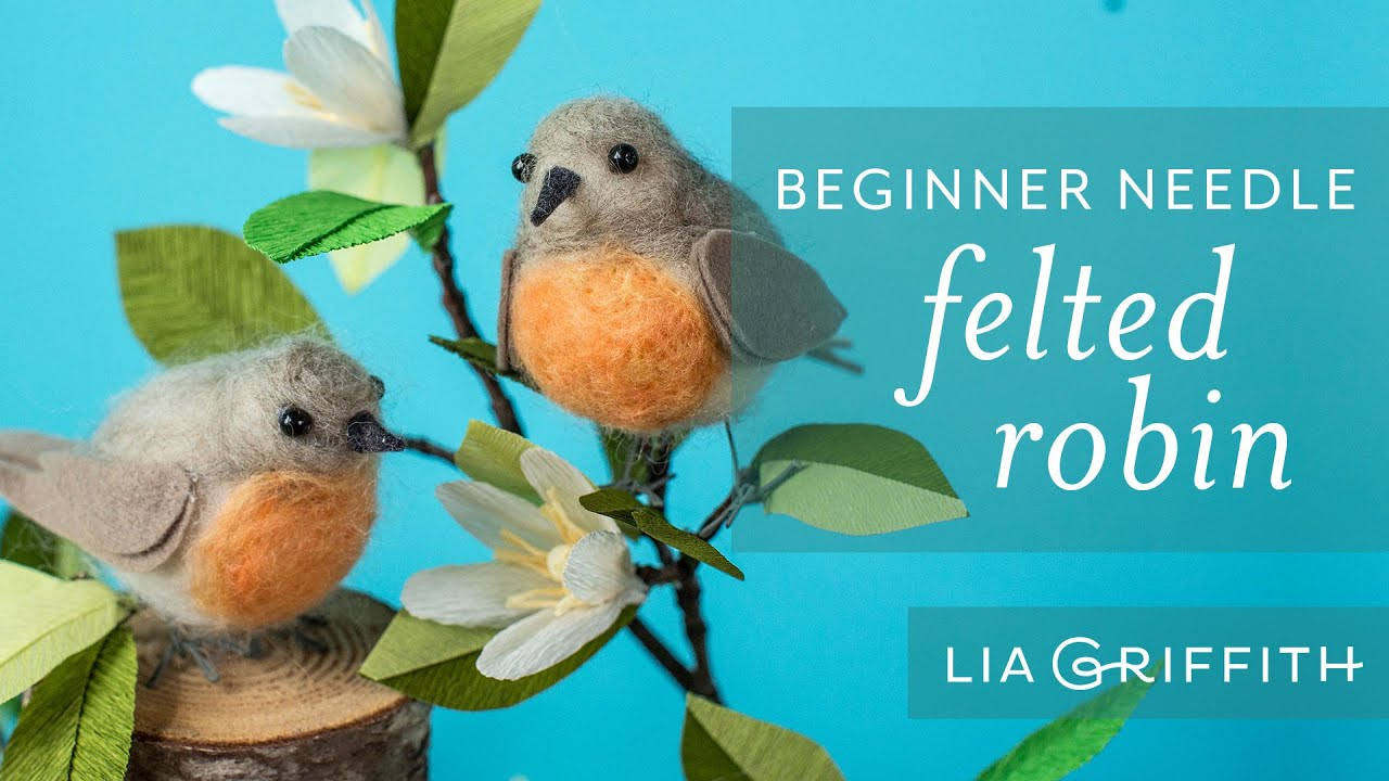 Needle Felting For Beginners How To Make A Felted Bird Youtube