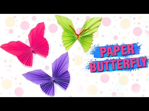 How To Make A Paper Butterfly   Easy DIY Paper Butterfly Making   Wall Decor Craft Ideas   Easy DIY