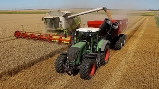 New PERARD X-FLOW 28 - Harvest 2013 with CLAAS LEXION 770 - Moisson 2013