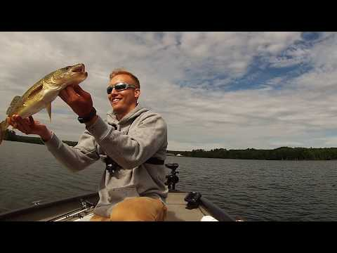 Hayward Lakes Fishing, Wisconsin, Big Walleye And Locating Musky