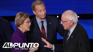 Los Clásicos: César Muñoz le canta a los senadores Elizabeth Warren y Bernie Sanders