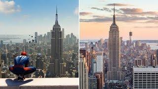 """""""Spider-man"""" sur PS4: on a comparé les images du jeu avec le vrai New York"""