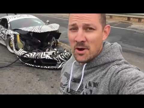 CRASHED Ferrari 458 Liberty walk accident Monterey car week 2016